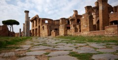 An ancient street in Ostia Antica, Rome, Italy