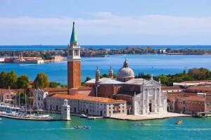 Famous San Giorgio Maggiore church in Venice, Italy