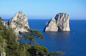 Faraglioni in Capri Island, Italy