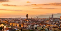 Florence at golden sunset, Tuscany, Italy