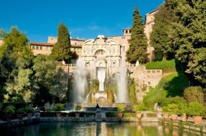 Fountains of Neptune & of the Organ at Villa D'este in Tivoli, Rome