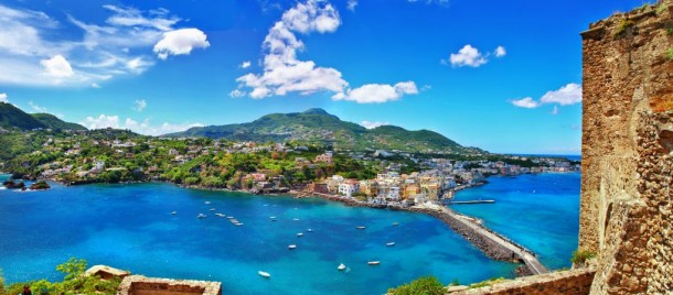 Panorama of Ischia island, Italy