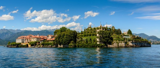 Isola Bella is located in the middle of Lake Maggiore, Italy