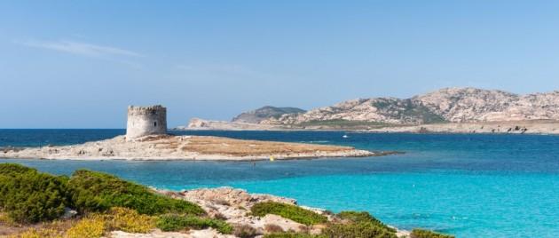 La Pelosa beach of Stintino in Sardinia, Italy