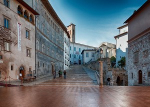 Piazza del Duomo in Spoleto, Umbria, Italy