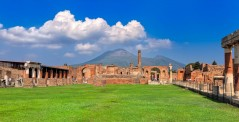 The archaeological site of Pompeii, Italy
