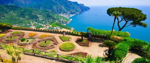 Ravello, panoramic view of the Amalfi Coast, Italy