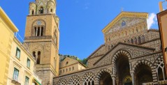 The cathedral of the village of Amalfi in the Amalfi Coast, Italy