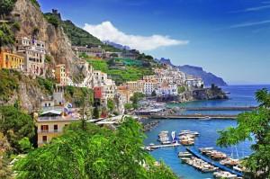 View of the beautiful village of Amalfi, Amalfi Coast, Italy