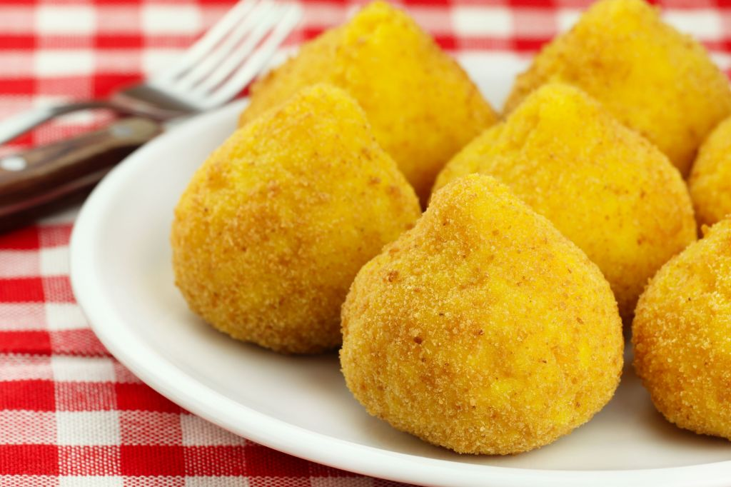 Arancini – deep fried stuffed rice balls typical of Sicily
