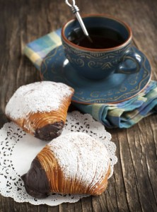 Sfogliatelle ricce , traditional pastry from Naples, Italy