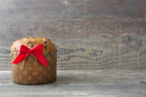 christmas-chocolate-cake-panettone-with-a-red-ribbon