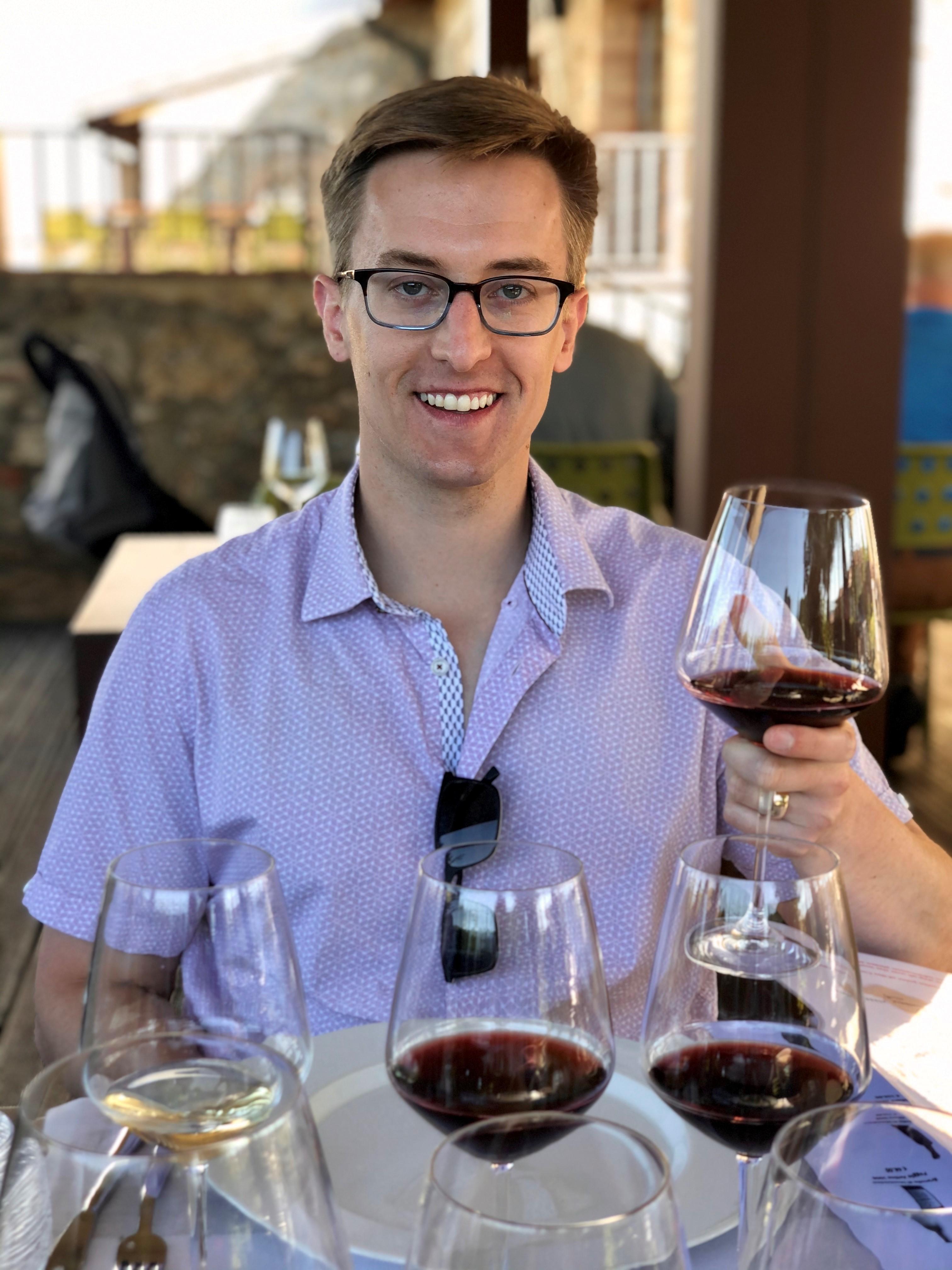 Mr & Mrs Schneider, wine tasting in Tuscany